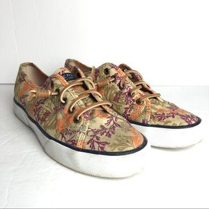 Sperry floral slip on boat shoes sneakers